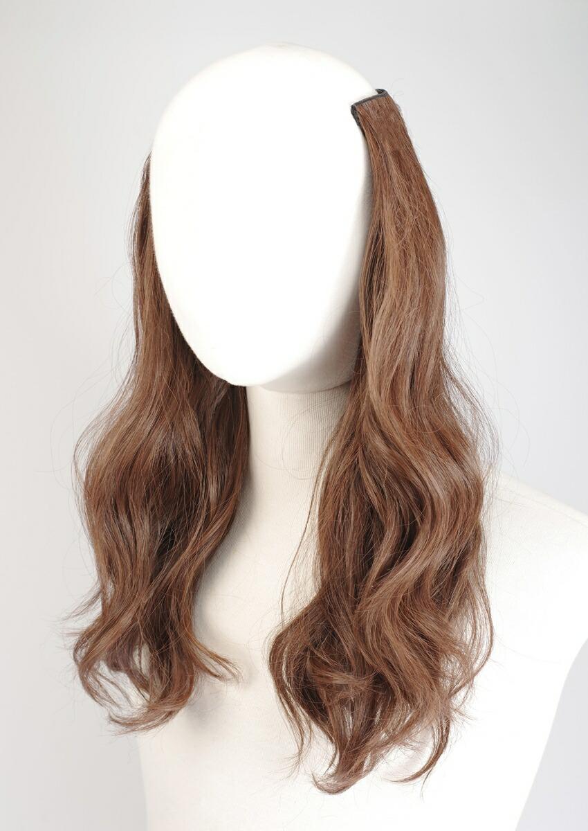 """假头发延长按一个按钮延长""""熨斗混合物烫发5枚""""(莫罢工原线)wig简单穿图片"""