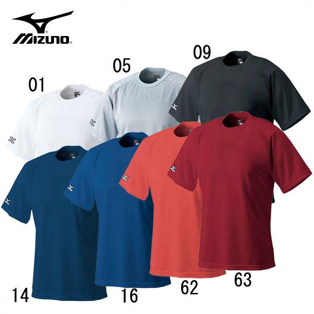 ミズノ 野球ウエア MIZUNO 52lb138 ベースボールシャツ 丸首 シャツ