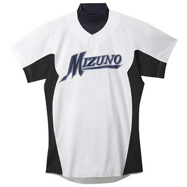 練習用シャツ 09ホワイト×ブラック MIZUNO ミズノ 野球 ウエア 練習用ユニフォーム 12JC5F4209 野球ウエア
