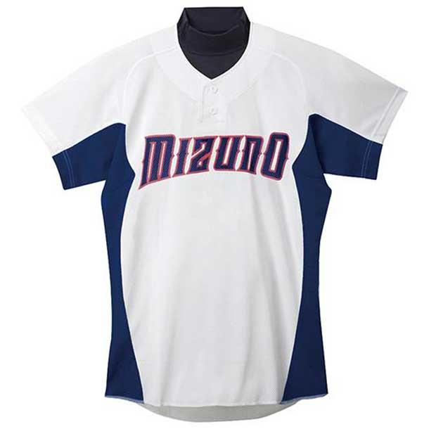 練習用シャツ 16ホワイト×パステルネイビー MIZUNO ミズノ 野球 ウエア 練習用ユニフォーム 12JC5F4216 野球ウエア