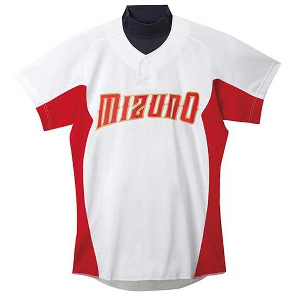 練習用シャツ 62ホワイト×レッド MIZUNO ミズノ 野球 ウエア 練習用ユニフォーム 12JC5F4262 野球ウエア