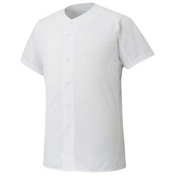 『ミズノプロ』シャツ/オープンタイプ 野球 01ホワイト MIZUNO ミズノ ウエア ユニフォームシャツ 12JC6F0101 野球ウエア