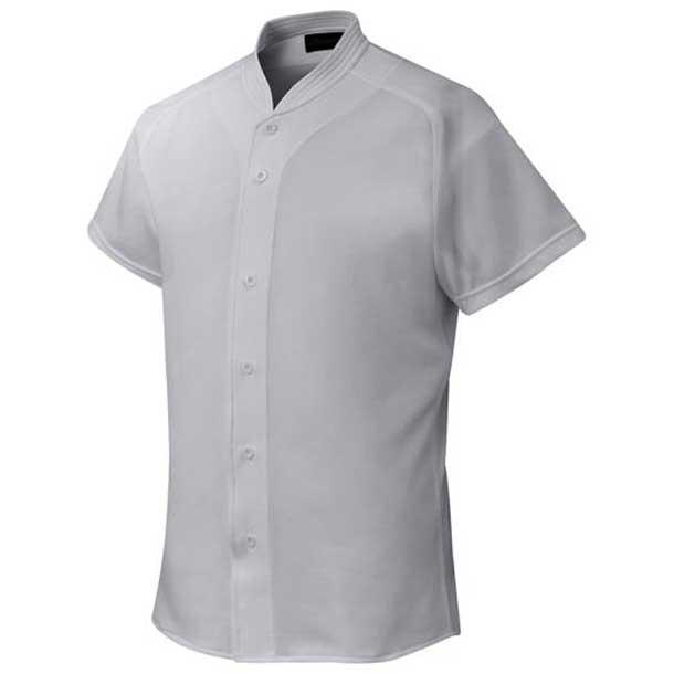 シャツ/オープンタイプ/小衿付 野球 05グレー MIZUNO ミズノ ウエア ユニフォームシャツ 12JC6F4105 野球ウエア