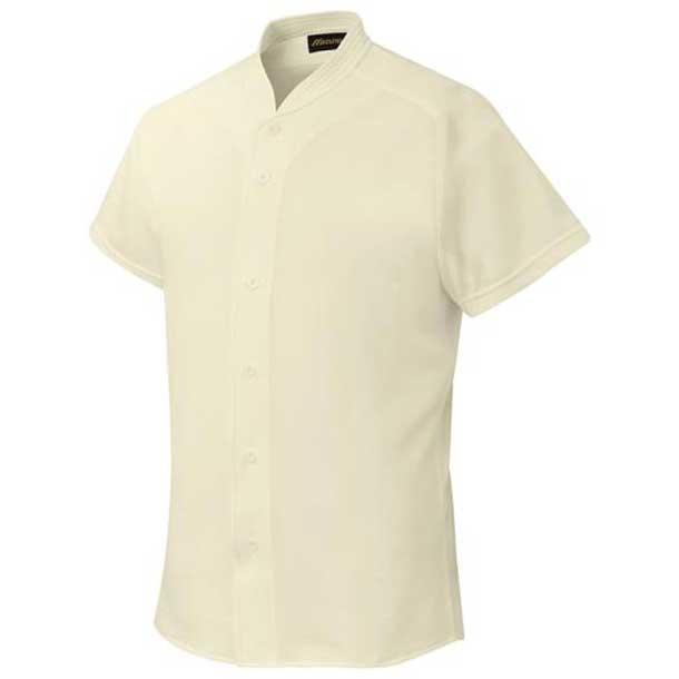 シャツ/オープンタイプ/小衿付 野球 48アイボリー MIZUNO ミズノ ウエア ユニフォームシャツ 12JC6F4148 野球ウエア
