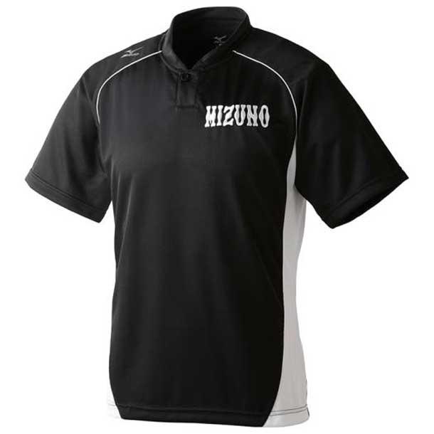 ハーフボタン/小衿タイプ ジュニア 09ブラック×ホワイト MIZUNO ミズノ 野球 ウエア ベースボールシャツ 12JC6L1209 野球ウエア