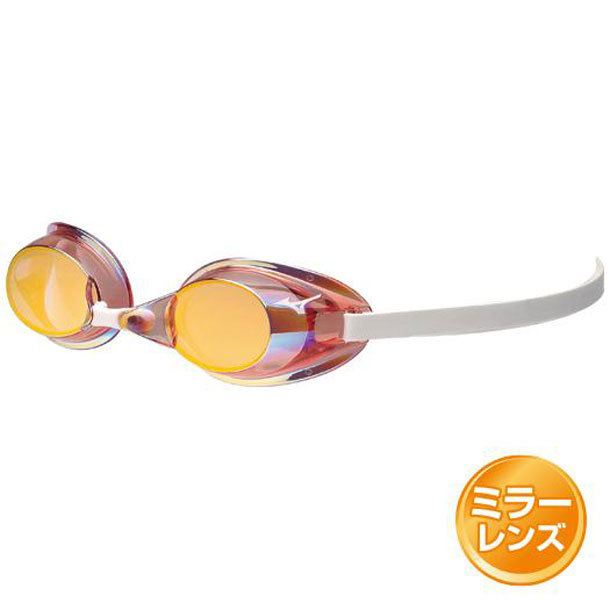 MIZUNO 85ya75166 ミズノ スイミングゴーグル ノンクッションタイプ 66スパークルピンク&オレンジミラー スイム スイムアクセサリー ゴーグル 85YA751