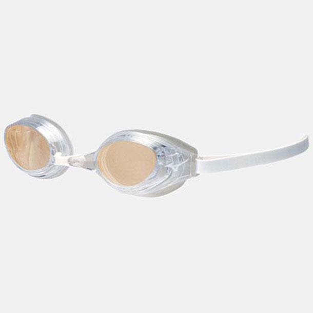MIZUNO 85ya90102 ミズノ スイミングゴーグル アクセルアイ/スイミングゴーグル クッション 一体成形 02クリア×オレンジミラー クリア スイム スイムアクセサリー ゴーグル 85YA901
