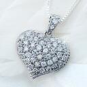 パヴェフルハート CZ diamond ( cubic zirconia ) silver necklace fs3gm