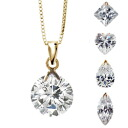 ★ ★ * chain another purchase is * 10 kinds! CZ diamond ( cubic zirconia ) swaying K14 yellow YG pendant 10P05July14