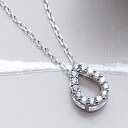 -Drop オープンティア drop CZ diamonds ( cubic zirconia ) K14 white gold WG necklace fs3gm