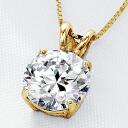CZ diamond K14 イエローゴールドネックレス fs3gm