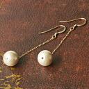 ★ ★ all 4 sizes (6 mm/8 mm / 10 mm / 12 mm) grain Kiska cotton Pearl K14GF (gold filled) long piece / plastic earrings 10P13Dec14