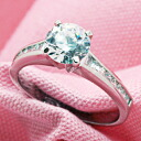 0.5 Carat promise CZ diamond silver ring ( ring ) fs3gm.