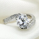 2.5 Carat CZ diamond ( cubic zirconia ) ( ring ) silver ring 10P01Feb14