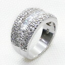 1.5 カラットリッチパヴェ CZ diamond (cue BIC zirconia) silver ring (ring) 10P05July14