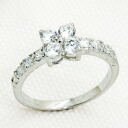 0.25 Carat パヴェフラワー CZ diamond silver ring ( ring ) fs3gm.