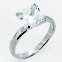3 Carat Princess CZ diamond silver ring ( ring ) fs3gm.