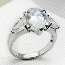 4 Carat CZ Diamond tier ( cubic zirconia ) silver ring ( ring ) fs3gm