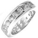 1.25 Carat Channel FL eternity CZ diamond ( cubic zirconia ) ( ring ) silver ring fs3gm