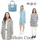 w.p.c raincoat border blue / black / Navy (women's rainwear Kappa repellent water jacket fashionable wpc World Party)