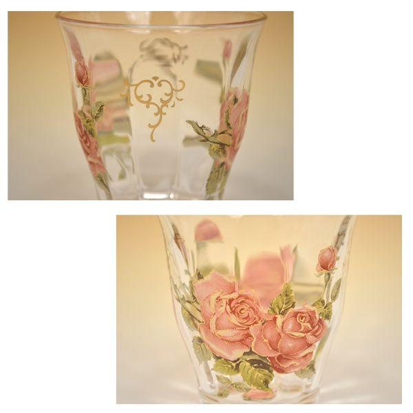金玫瑰不倒翁古董玻璃杯子玫瑰玫瑰欧式花边优雅