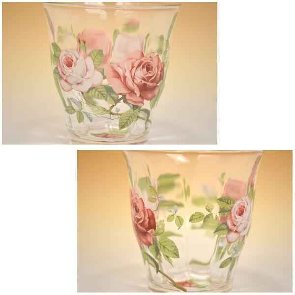 英伦玫瑰不倒翁古董玻璃杯子玫瑰玫瑰欧式花边优雅