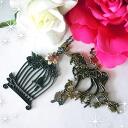 ネックレスワンダードリームロマンチックガーリー fairy tale Unicorn birdcage carving maiden charms