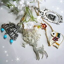 4 necklace pattern fantasy romance small bird Bambi fairy tales 2 for 5,000 yen