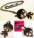 Necklace Japanese pop nostalgic glasses girl crystal accessories 2 for 5,000 yen