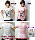Popular ★ SALE T-shirt forest girl-style French fabric girly Bambi rose butterfly watermark