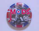 ◆ UK Mods ◆ mod バイクロゴ can badge ◆ imported directly from the London street market!