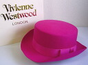 ◆ Vivienne Westwood ◆ Vivienne Westwood ★ John-Bull hat limited ☆ jumble-Hat HOT PINK