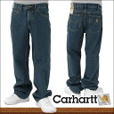 / /Fs3gm / men's Carhartt and Carhartt RELAXED FIT TIPTOIN DENIMPANT/JEANS リラックスフィットチップドデニムパンツ and jeans クラシックウォッシュ