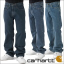 Carhartt and Carhartt relax fit denim pants jeans 3 colors Bluestone wash Relaxed Fit Straight Leg Jean mens casual / work clothes b460