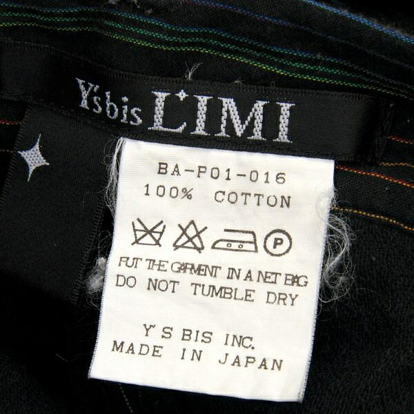 ワイズ ビス リミY's bis LIMI  コットンストライプパンツ 黒系S