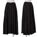 Wise Y's waist rubber long skirt black 2