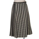 Comme des garcons COMME des GARCONS graphical stripe wool skirt cream / black S