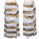 Pleats please PLEATS PLEASE sky earth horizontal stripes winding skirt blue tea 3