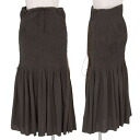 Issey Miyake ISSEY MIYAKE cotton stretch laceup design pleated skirt tea 1