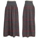 ワイズビスリミ Y's bis LIMI horizontal stripe knit skirt charcoal red S