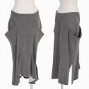 Toothpick Yamamoto femme Yohji Yamamoto FEMME solid pocket design skirt gray system 1