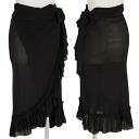 Jean Paul Gaultier Jean Paul GAULTIER powered winding skirt black M long