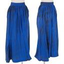 Aiwishwisevis iwish Y's bis silk dye skirt blue grey M long