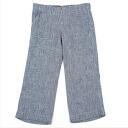 45 rpm check woven cotton pants Navy blue white 1