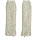 Pleats please PLEATS PLEASE knit pattern print skirt beige others 3