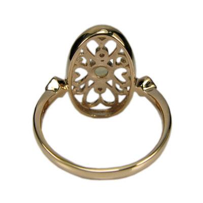 Coeur Antiquite アンティーク調 ハート×オパール リング K18 【Pt900 変更可能】/ 送料無料 luxurious 上品で神秘的な輝きを貴方の指先に…
