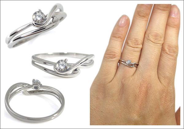 K18ゴールド ダイヤモンドリング エンゲージリング 婚約指輪