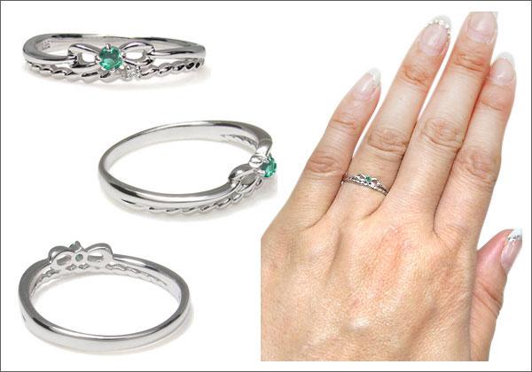リボン 縄 指輪
