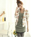 Floral jacket ♪ CUTE! girl femininity scale. girly