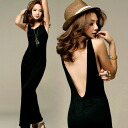 I show a back and am going to ship it on order about April 4 SEXY ★ no sleeve maxiskirt length one piece ♪◎ today
